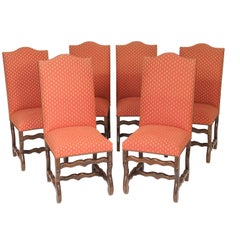Set of 6 Louis XIV Style Dining Room Chairs
