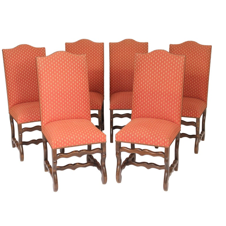 Set of 6 Louis XIV Style Dining Room Chairs For Sale