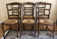 Set of 6 Louis XV Provincial Style Dining Chairs
