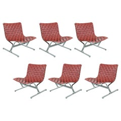 Set of 6 Lounge Chairs by Ross Littell for ICF Milano 1, 1968