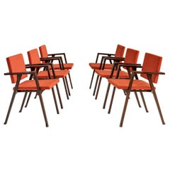 Set of 6 Luisa Chairs by Franco Albini