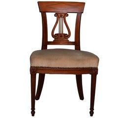 Set of 6 Mahogany Chairs Restauration Style