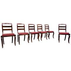 Set of 6 Mahogany Charles X Chairs