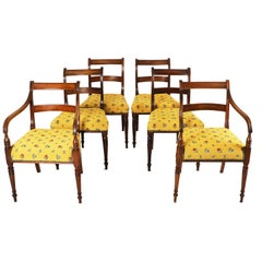Set of 6 Mahogany Dining Chairs