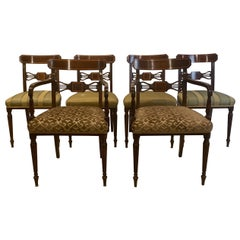 Set of 6 Mahogany Sheraton Style Chairs