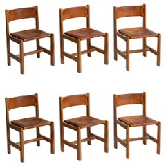 Set of '6' Maison Regain Chairs, France, circa 1970