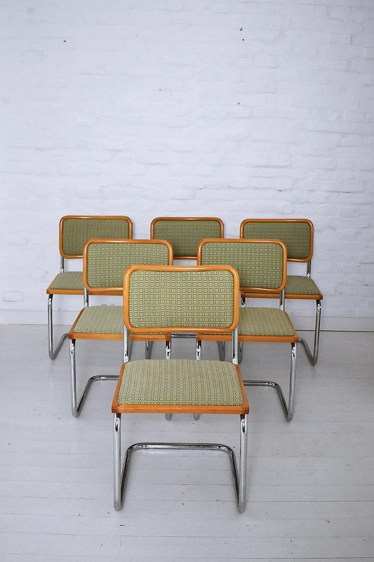 Set of 6 Marcel Breuer B32 Cesca Chairs by Bene, Austria, 1980s For Sale 6