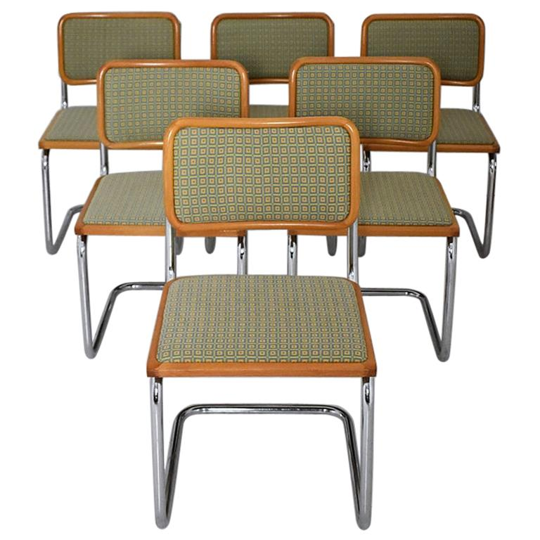 Set of 6 Marcel Breuer B32 Cesca Chairs by Bene, Austria, 1980s For Sale