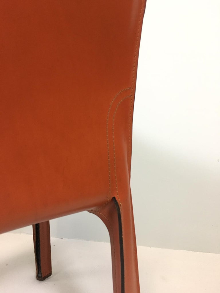 Set of 6 Mario Bellini Cab 413 Armchairs by Cassina In Good Condition For Sale In Berne, CH