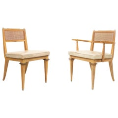 Set of 6 Mastercraft Bleached Mahogany Dining Chairs