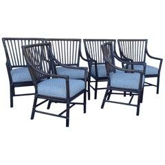 Set of 6 McGuire Armchairs