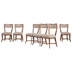 Set of 6 Melchiorre Bega Chairs Made of Cherrywood, Italy, 1950s