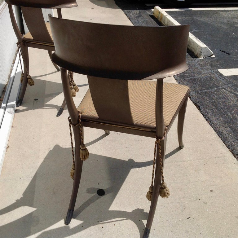 Set of 6 Michael Taylor Klismos Chairs For Sale 9