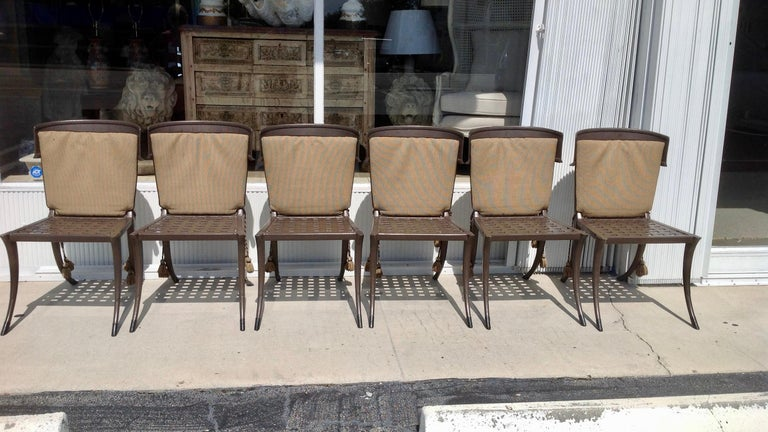 Modern Set of 6 Michael Taylor Klismos Chairs For Sale