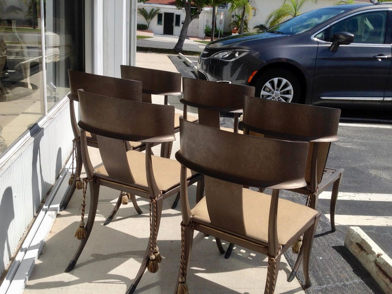 Late 20th Century Set of 6 Michael Taylor Klismos Chairs For Sale