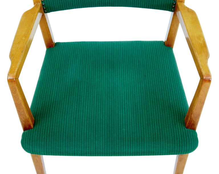 Woodwork Set of 6 Mid-20th Century Scandinavian Armchairs For Sale