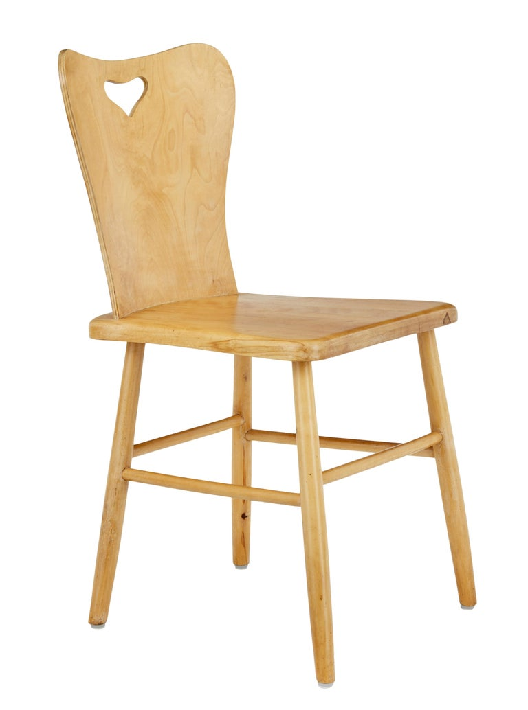 Good quality set of 6 Swedish design dining chairs from the 1960s.