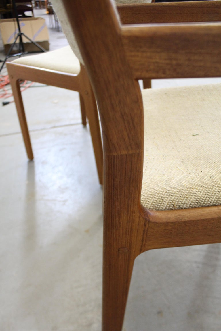 Set of 6 Midcentury Danish Modern Teak Dining Chairs For Sale 6