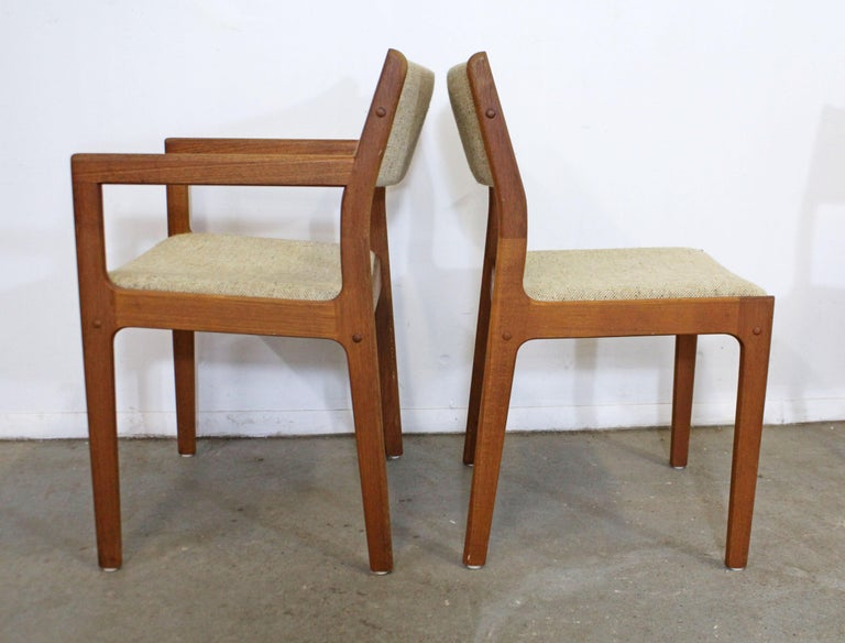 Unknown Set of 6 Midcentury Danish Modern Teak Dining Chairs For Sale