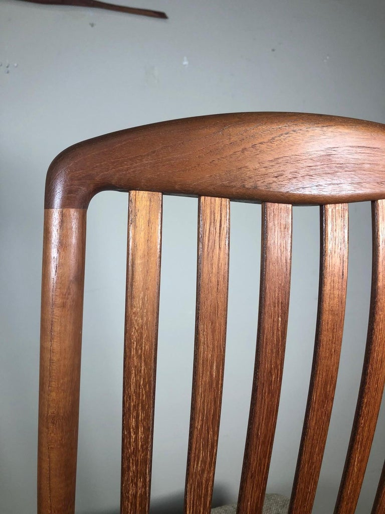 Set of 6 Midcentury Danish Teak Dining Chairs by Dyrlund In Good Condition For Sale In Norcross, GA