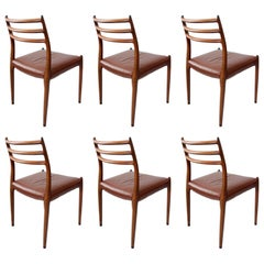 Set of 6 Mid-Century Design Niels Møller Model 78 Rosewood Dining Chairs