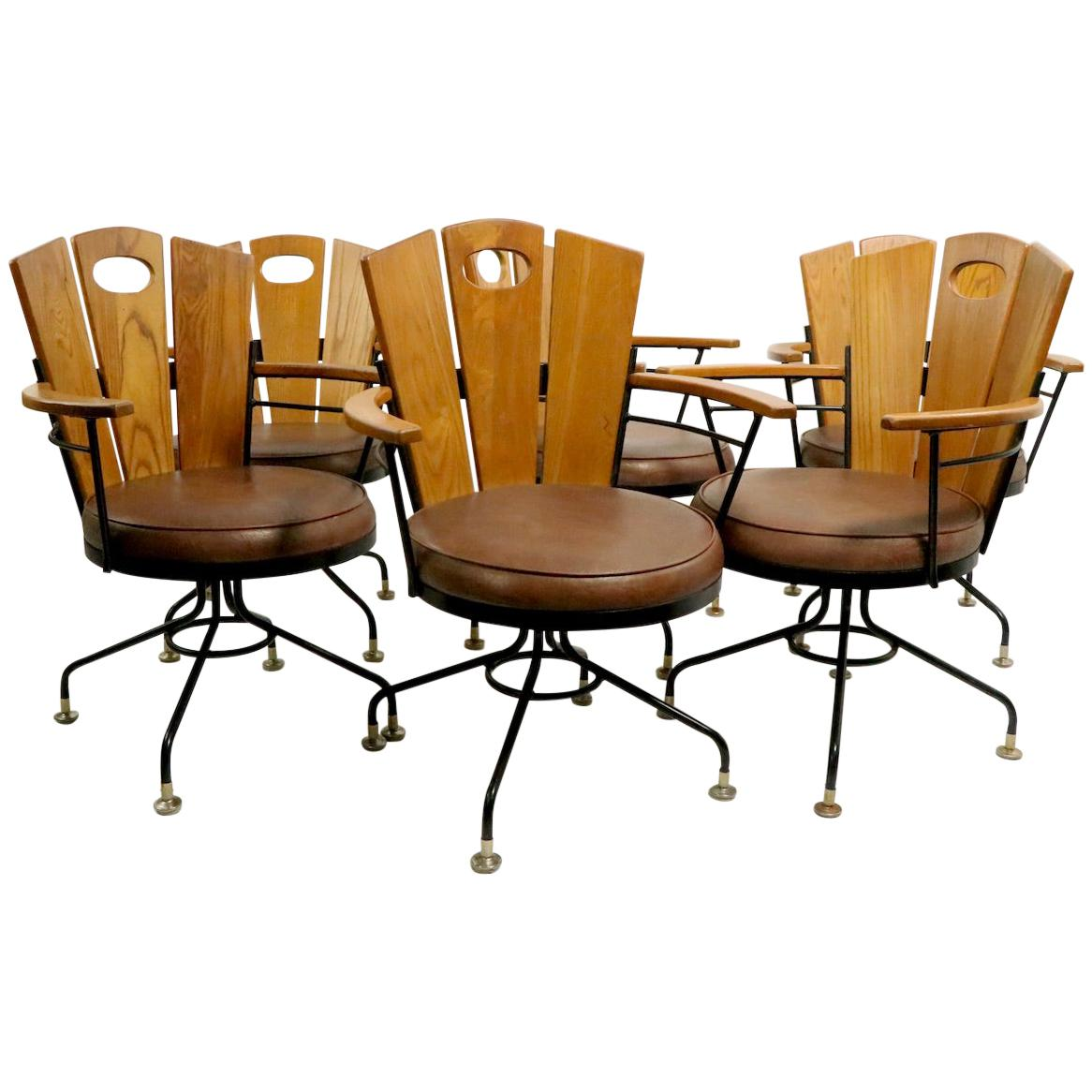 Set of 6 Mid Century Dining Armchairs by Richard McCarthy