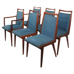 Set of 6 Mid Century Dining Chairs Made in Germany by Casala