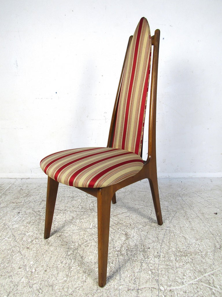 Mid-Century Modern Set of 6 Midcentury Highback Dining Chairs Attributed to Adrian Pearsall For Sale