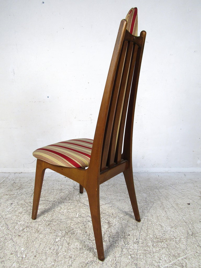 20th Century Set of 6 Midcentury Highback Dining Chairs Attributed to Adrian Pearsall For Sale