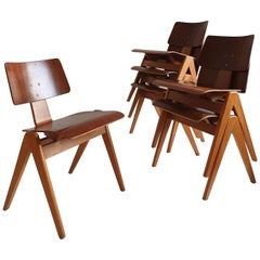 Set of 6 Midcentury 'Hillestak' Chairs by Robin Day for Hille, circa 1950