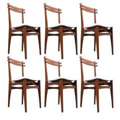Set of 6 Mid-Century Italian Chairs, 1960s
