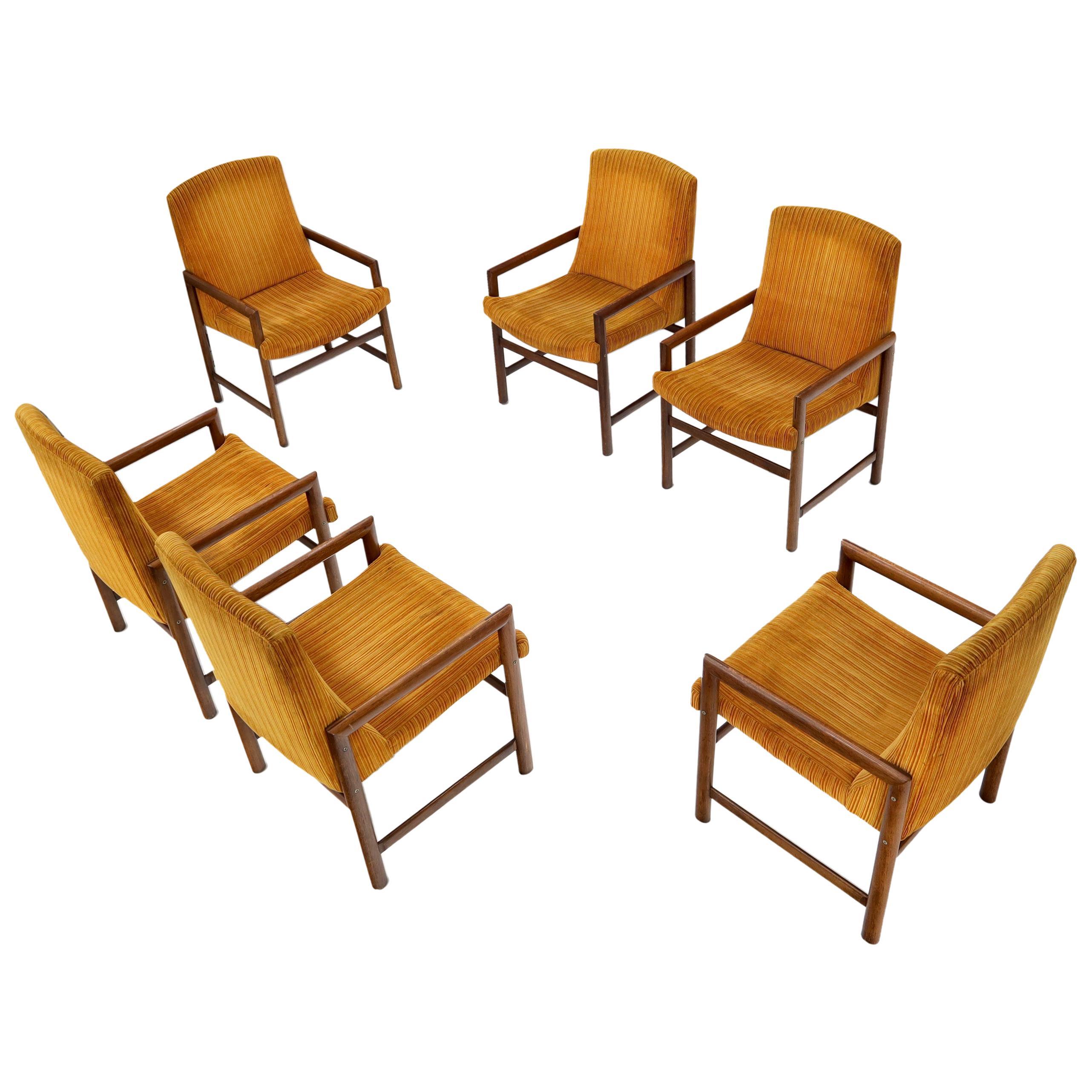 Set of 6 Mid-Century Modern Baughman Dining Armchairs