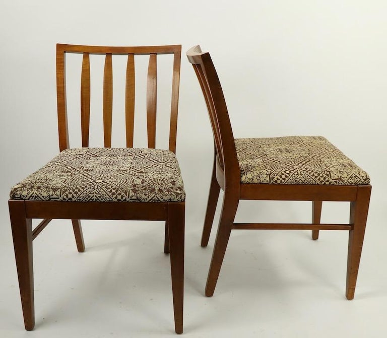 Set of 6 Mid-Century Modern Dining Chairs attributed to RWAY For Sale 4