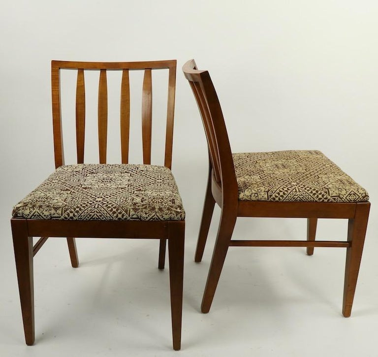 Set of 6 Mid-Century Modern Dining Chairs attributed to RWAY For Sale 7