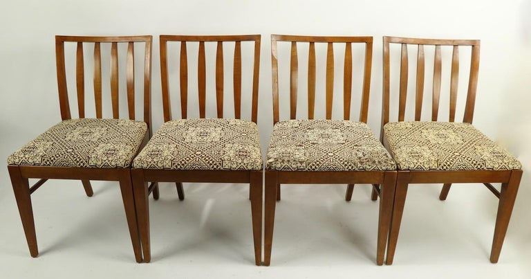 Set of 6 Mid-Century Modern Dining Chairs attributed to RWAY For Sale 8