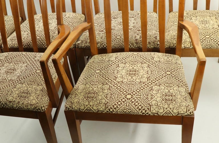 Set of 6 Mid-Century Modern Dining Chairs attributed to RWAY For Sale 10
