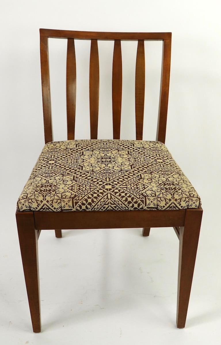 American Set of 6 Mid-Century Modern Dining Chairs attributed to RWAY For Sale