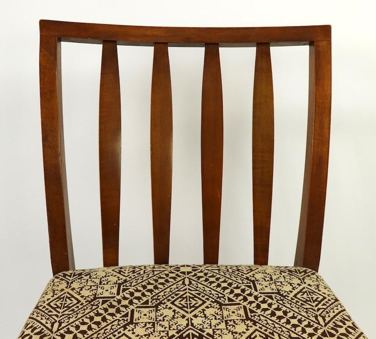 Set of 6 Mid-Century Modern Dining Chairs attributed to RWAY For Sale 1