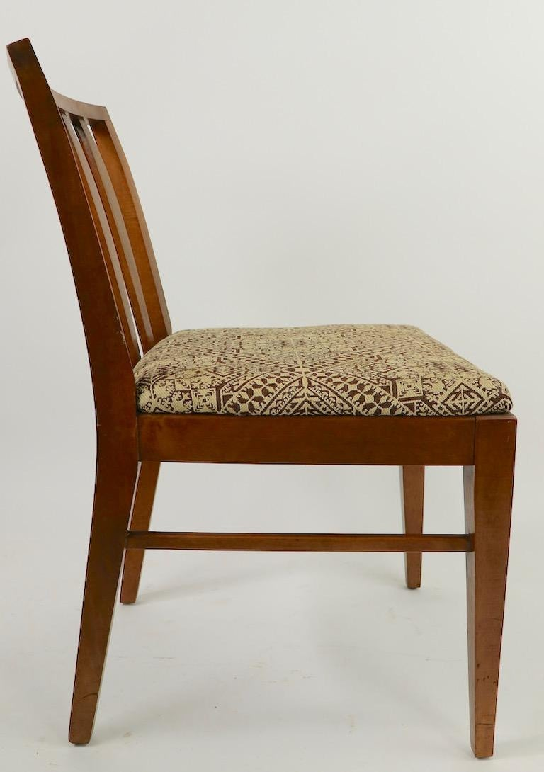 Set of 6 Mid-Century Modern Dining Chairs attributed to RWAY For Sale 2
