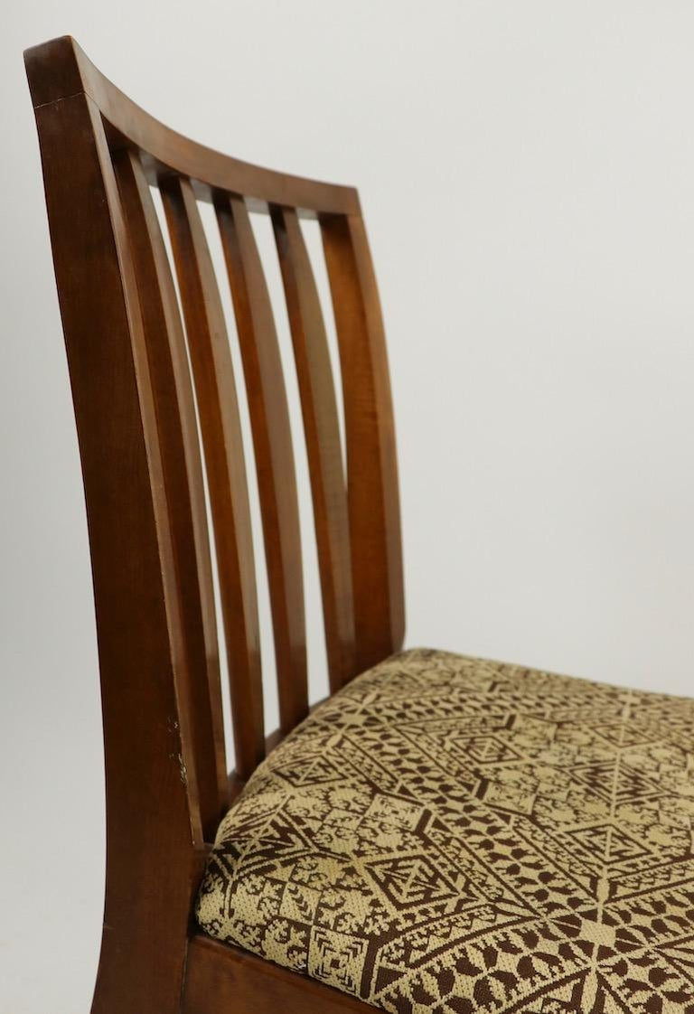Set of 6 Mid-Century Modern Dining Chairs attributed to RWAY For Sale 3