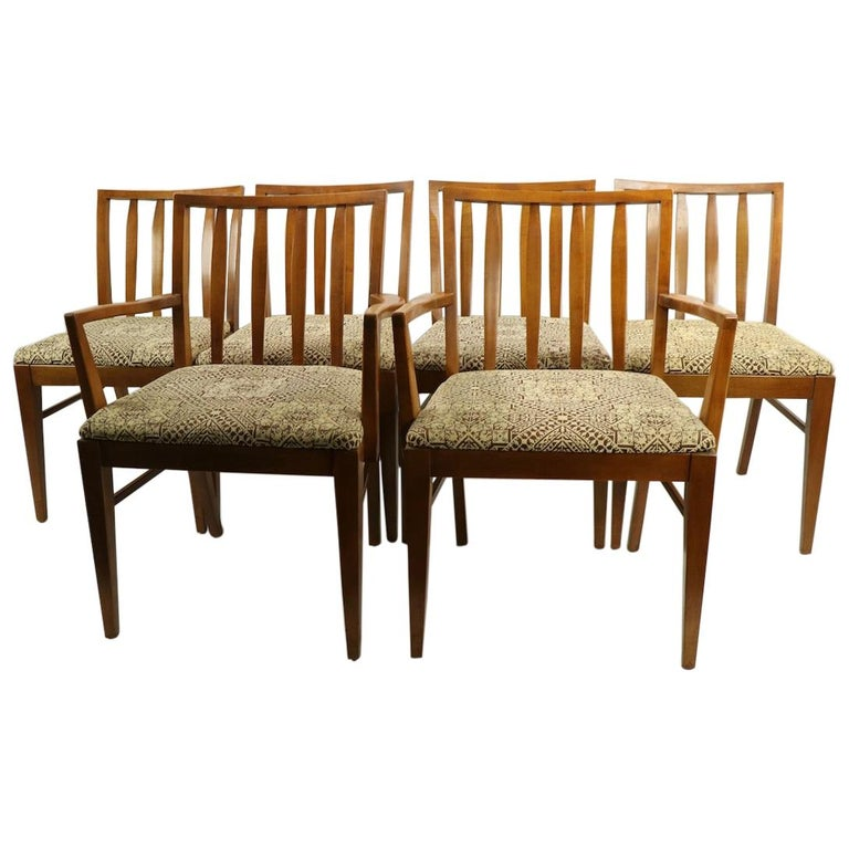 Set of 6 Mid-Century Modern Dining Chairs attributed to RWAY For Sale