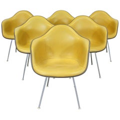 Set of 6 Mid-Century Modern Eames for Herman Miller Dax Shell Armchairs