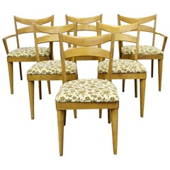 Set of 6 Mid-Century Modern Heywood Wakefield Wheat Bow Tie Dining Chairs 953