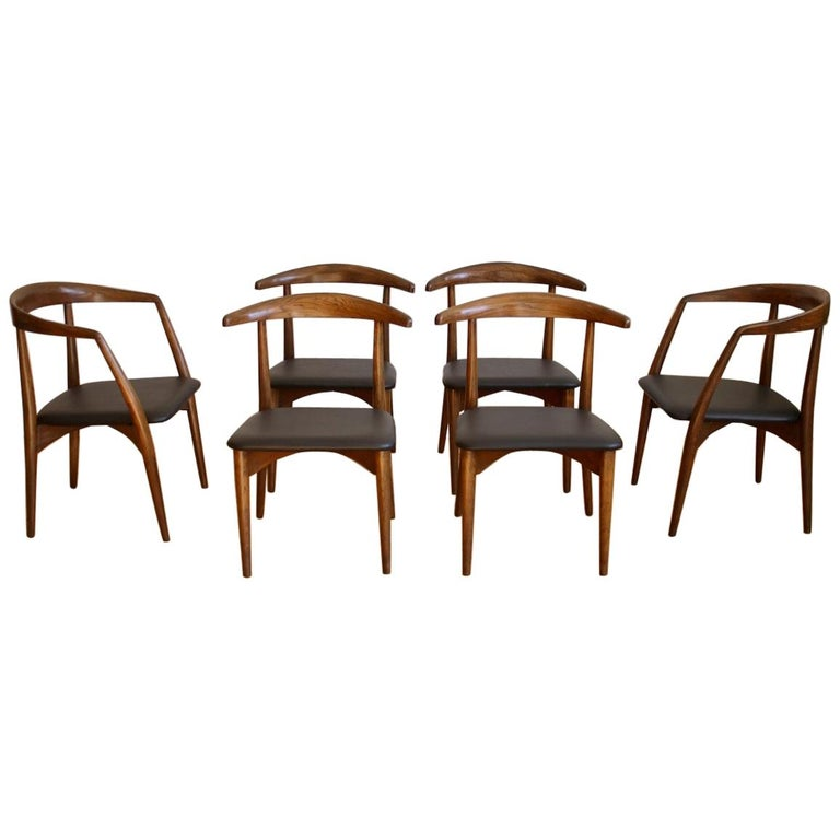 Set Of 6 Mid Century Modern Lawrence Peabody Dining Chairs
