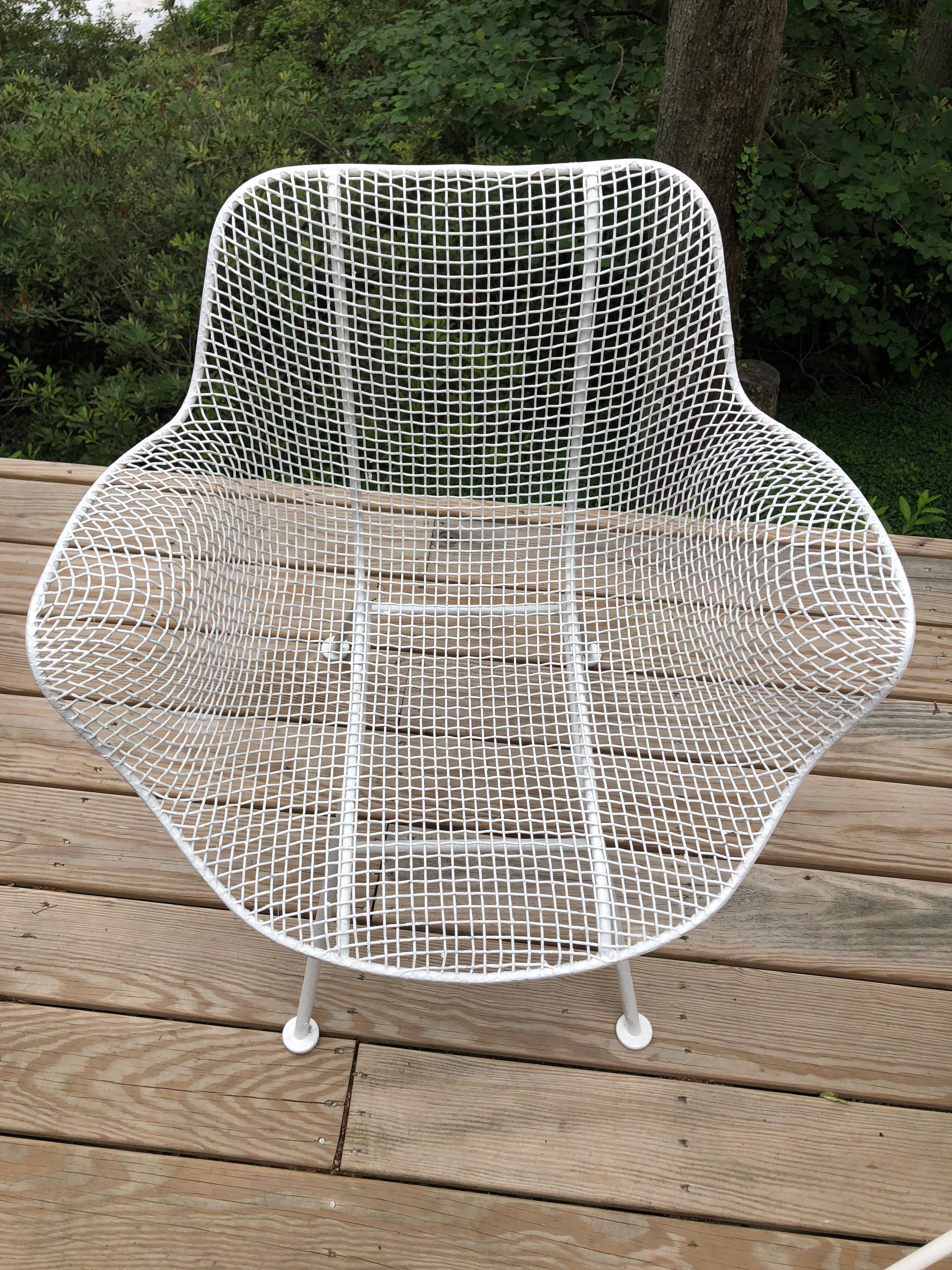 Set Of 6 Mid Century Modern Wire Mesh Sculptura Dining Chairs By Russell  Woodard