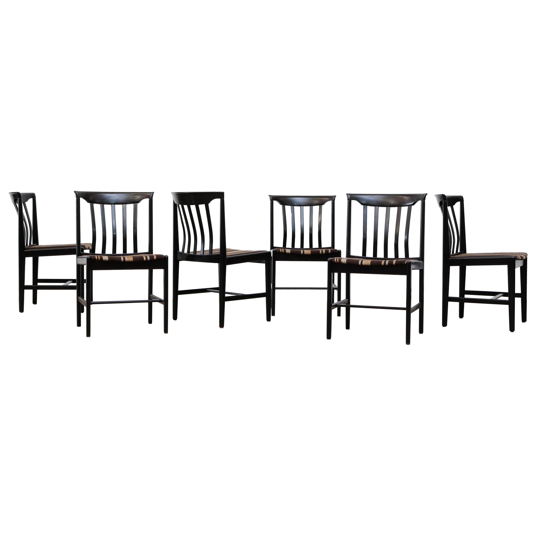 Set of 6 Mid-Century Swedish Dining Chairs