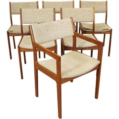 Set of 6 Midcentury Danish Modern Teak Dining Chairs