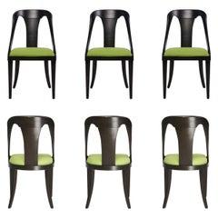 Set of 6 Midcentury Dining Chairs Designed by Jack Van der Molen