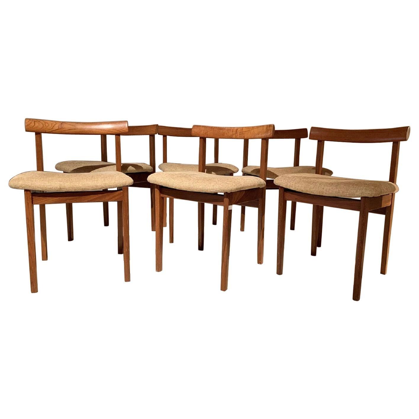 Set of 6 Midcentury English Chairs