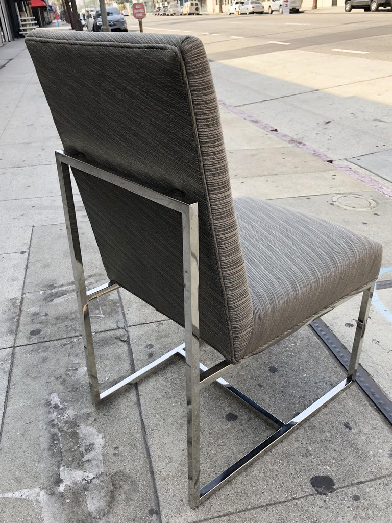 Gorgeous set of 6 dining chairs, these chairs are just breathtaking, the sculptural lines paired with beauty and elegance.  All of the chairs retain the original fabric which is in good vintage condition and could possibly be used in as found